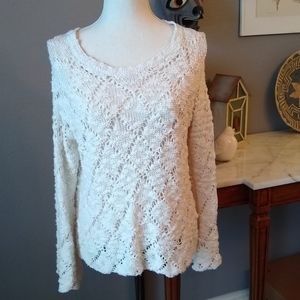 Kendall & Kylie open weave sweater